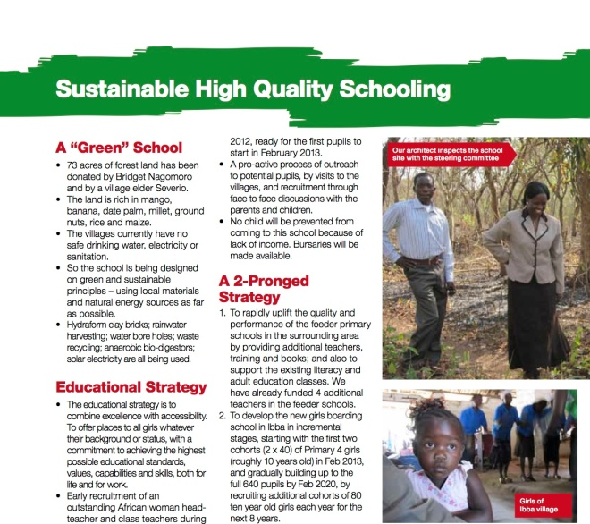 Sustainable High Quality Schooling for Ibba