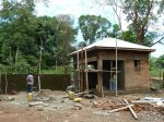Ibba Girls School gatehouse being built in April 2012